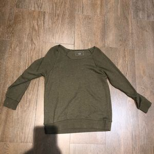 Long sleeve Army green shirt